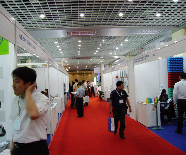 Exhibitors at an exhibition