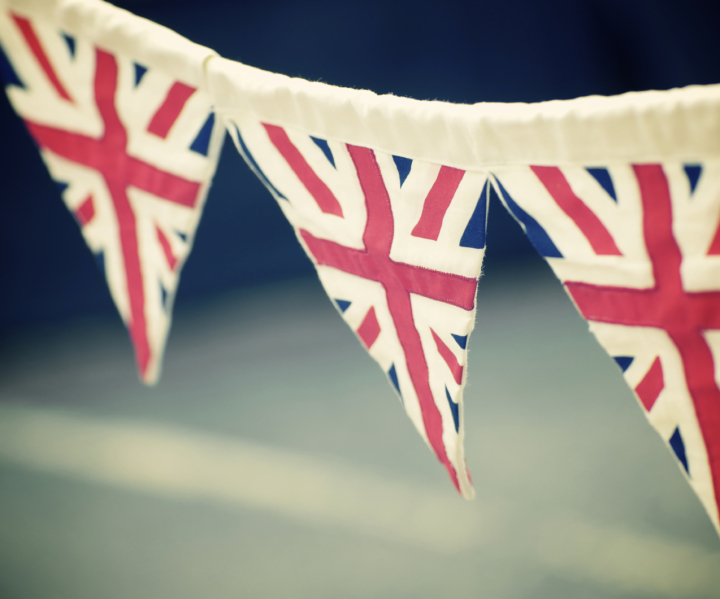 Bunting for a street party